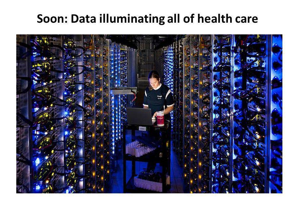 Soon: Data illuminating all of health care