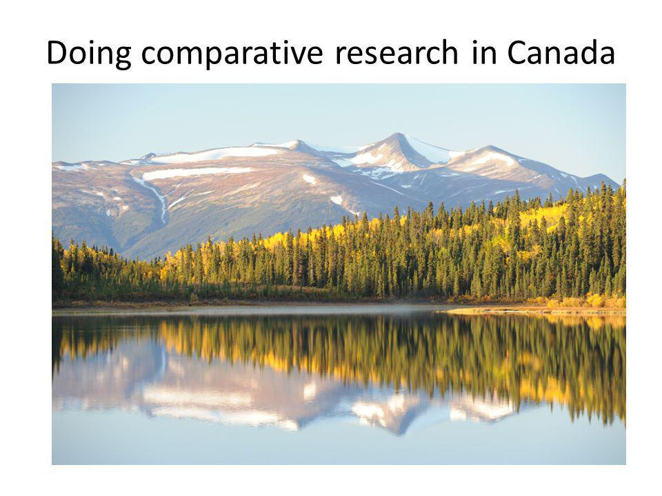 Doing comparative research in Canada