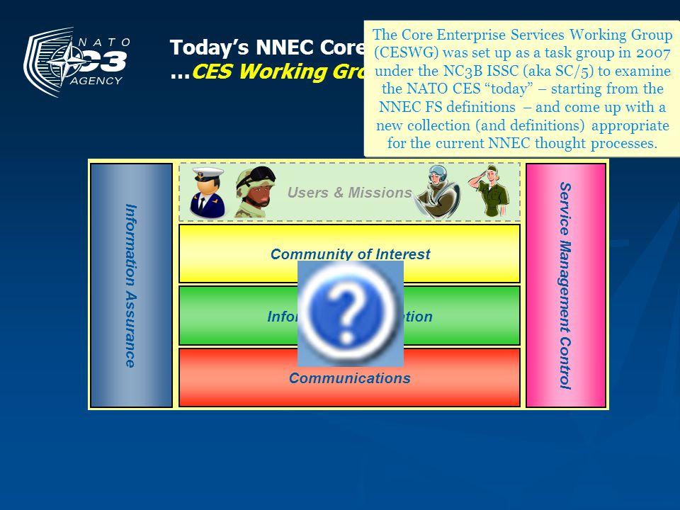 Todays NNEC Core Enterprise Services: …CES Working Group (SC/5) Perspective The Core Enterprise Services Working Group (CESWG) was set up as a task gr