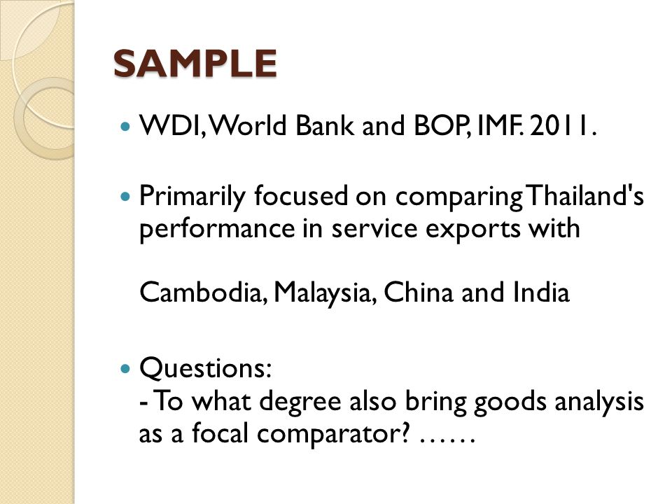 CONTENTS How important are services to growth in Thailand.