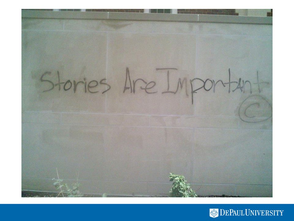 Stories Are Important How and what we choose to count and the manner in which we array and display our accounts is a form of narrative – legitimately, necessarily, and inevitably.