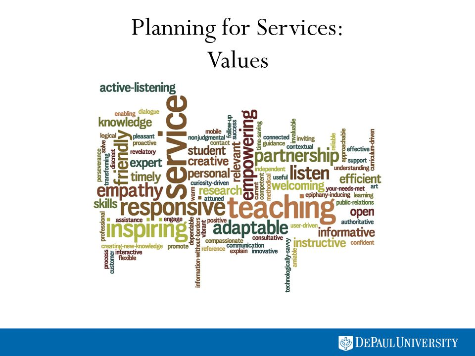 Planning for Services: Values