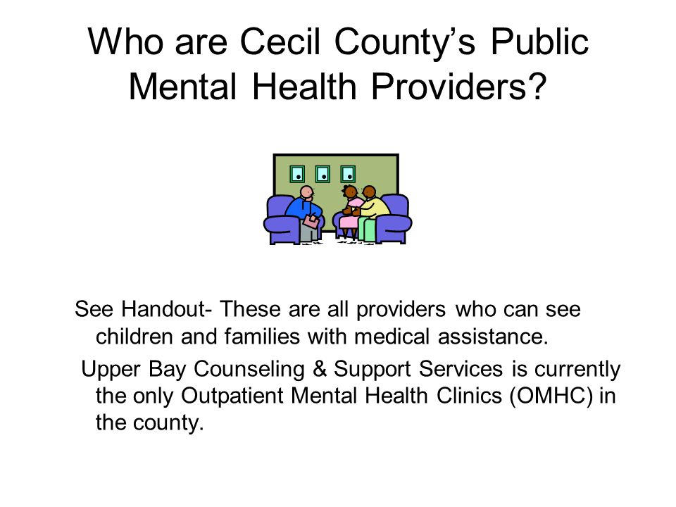 Who are Cecil Countys Public Mental Health Providers.