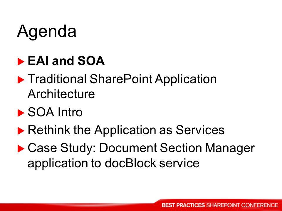 EAI and SOA EAI – Enterprise Application Integration What does EAI have to do with SOA.