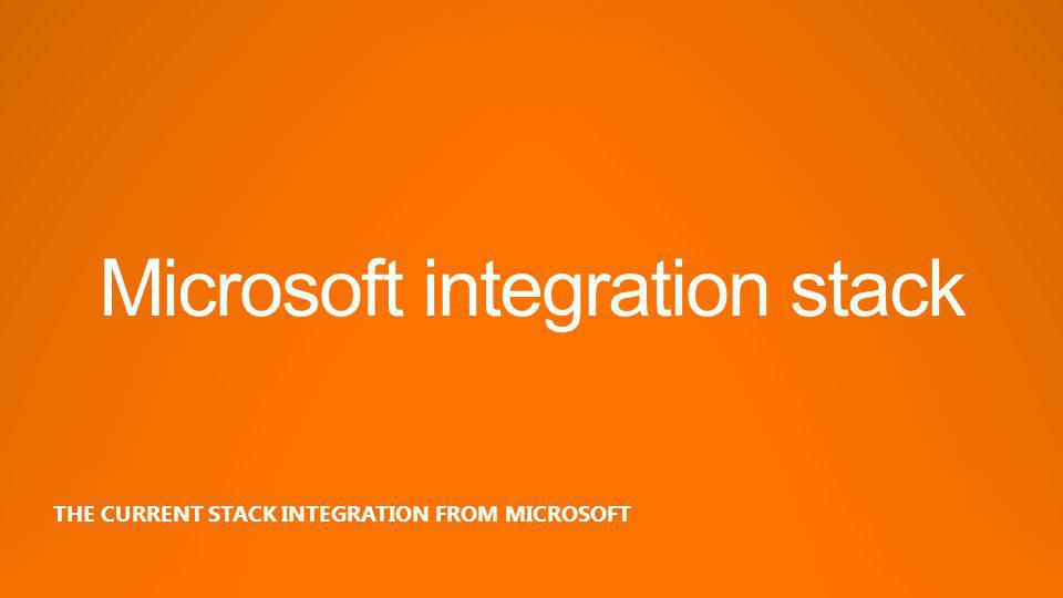 Microsoft integration stack THE CURRENT STACK INTEGRATION FROM MICROSOFT