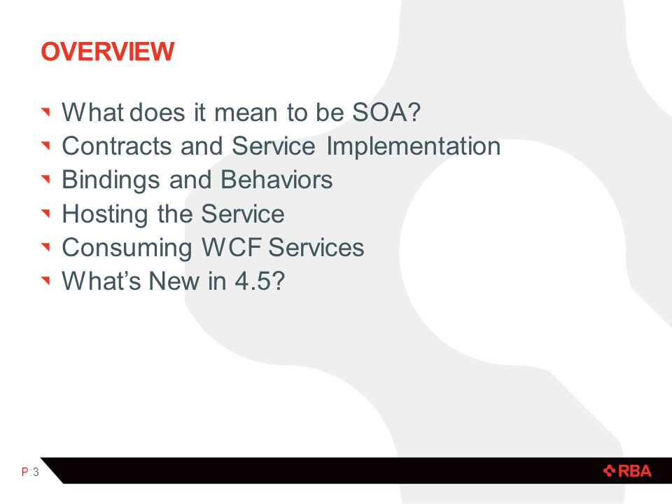 OVERVIEW What does it mean to be SOA.