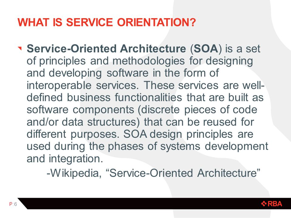 WHAT IS SERVICE ORIENTATION.