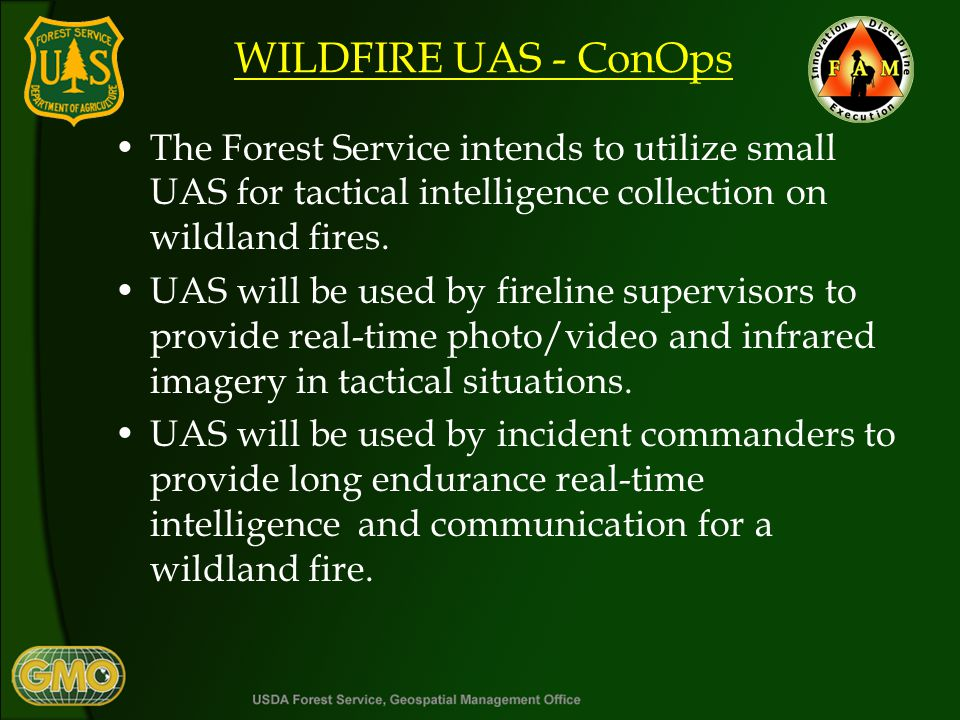Mission Objectives Collect real-time photo/ video color/IR data and transmit to tactical decision makers.