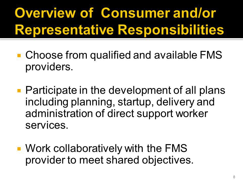 Choose from qualified and available FMS providers.
