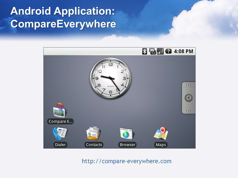 Android Application: CompareEverywhere http://compare-everywhere.com