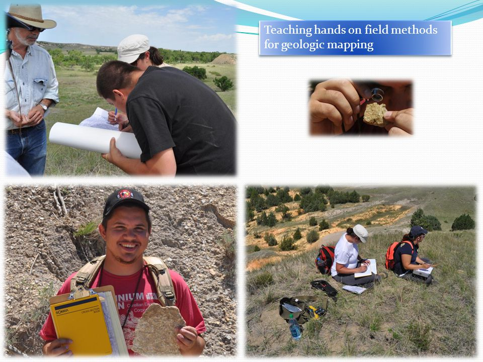 Teaching hands on field methods for geologic mapping