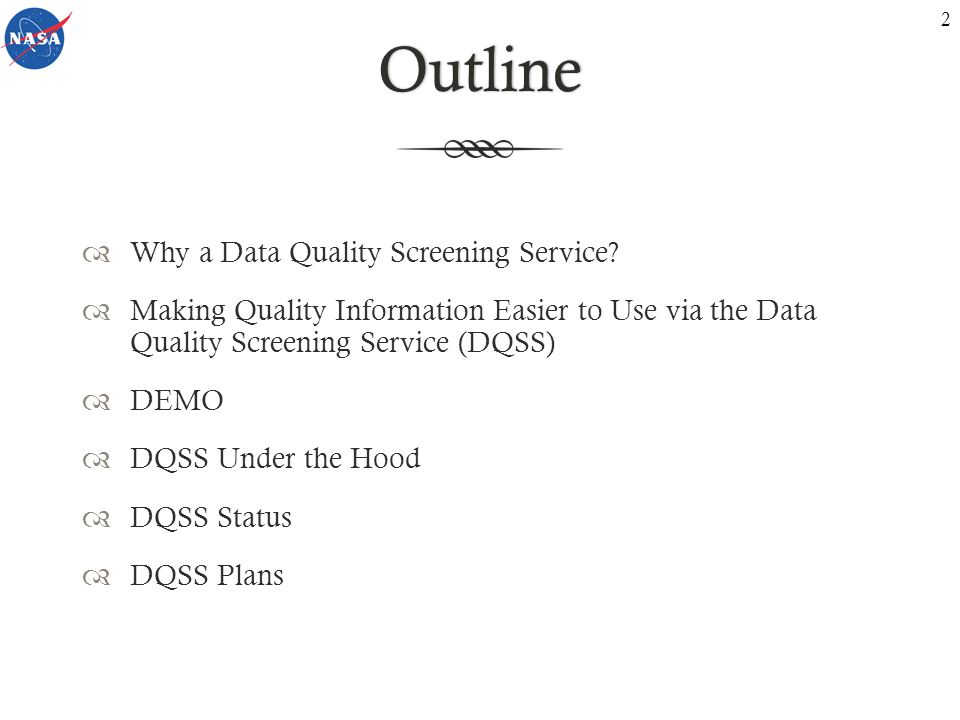 Why a Data Quality Screening Service? 3