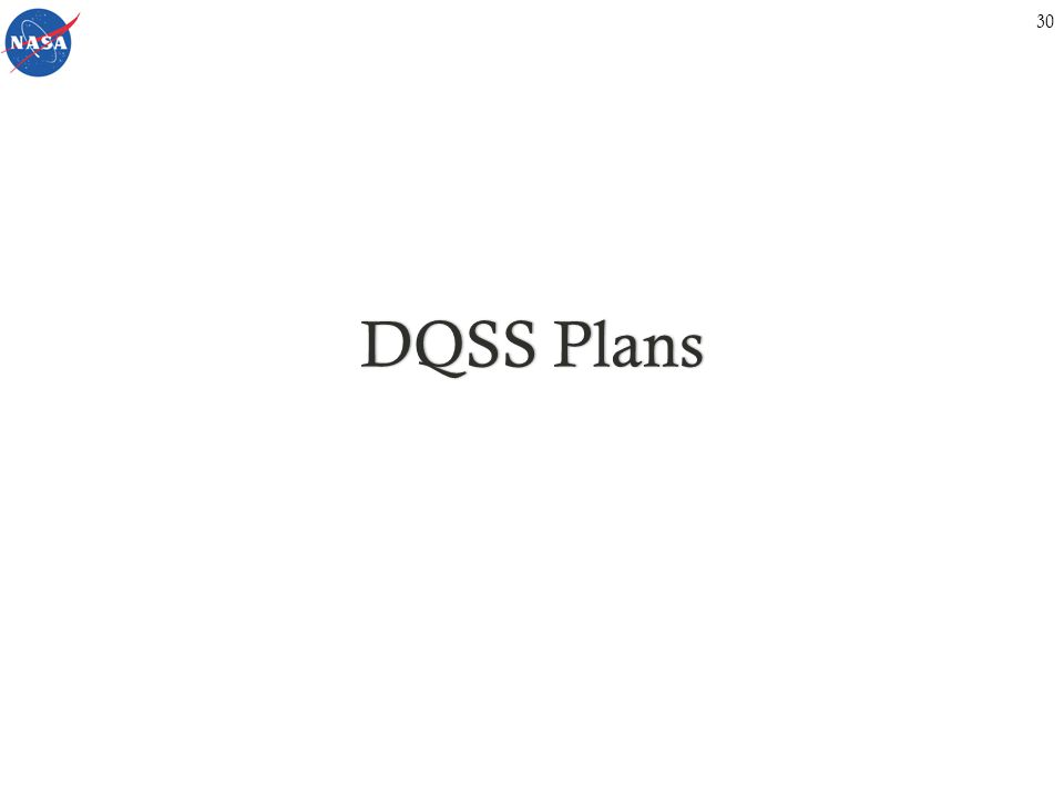 DQSS PlansDQSS Plans 30
