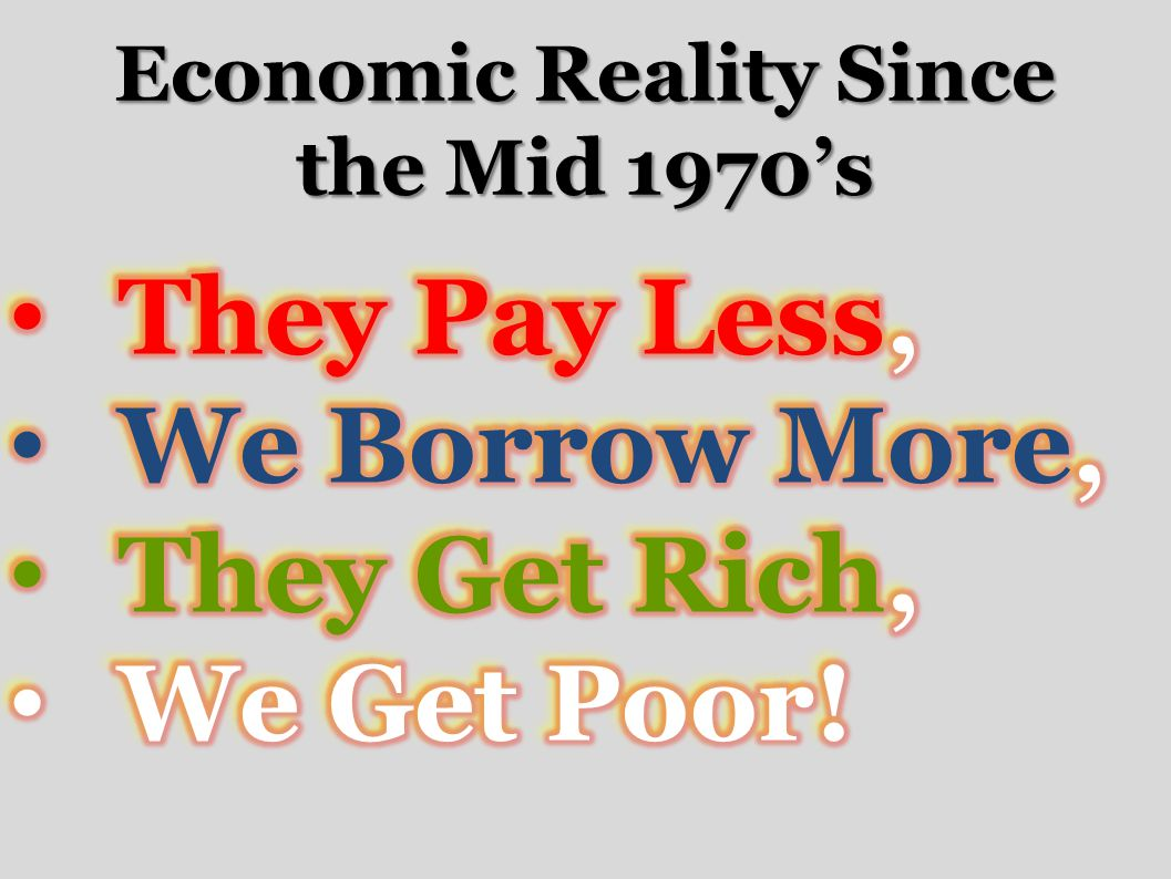 Economic Reality Since the Mid 1970s