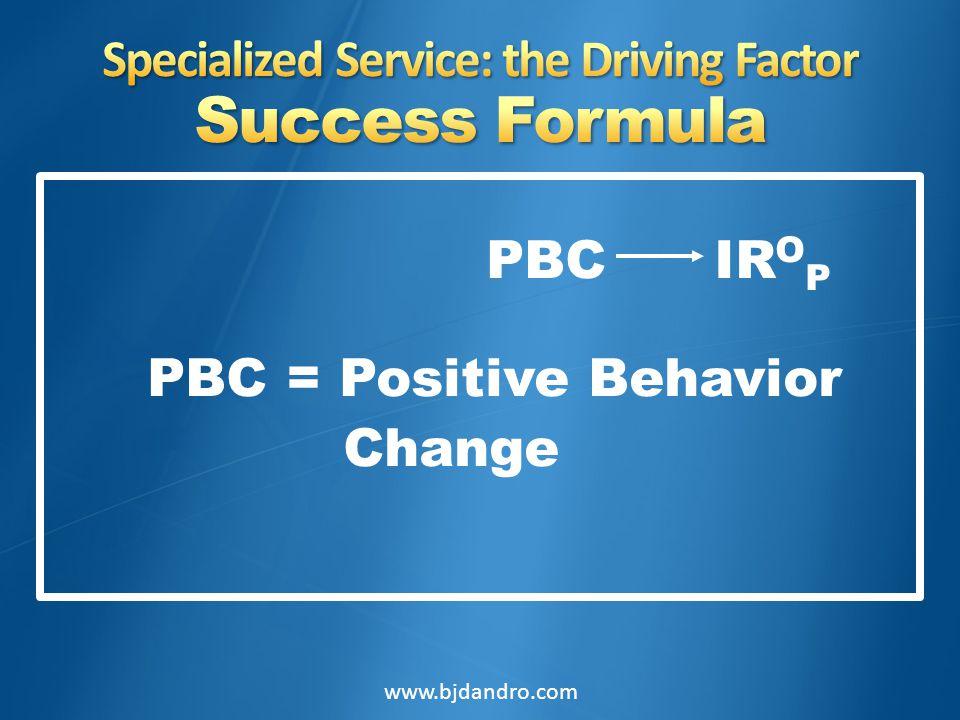 PBC IR O P PBC = Positive Behavior Change www.bjdandro.com