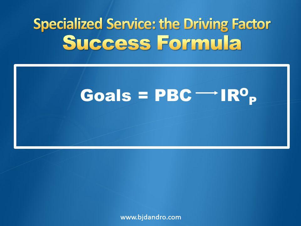 Goals = PBC IR O P www.bjdandro.com