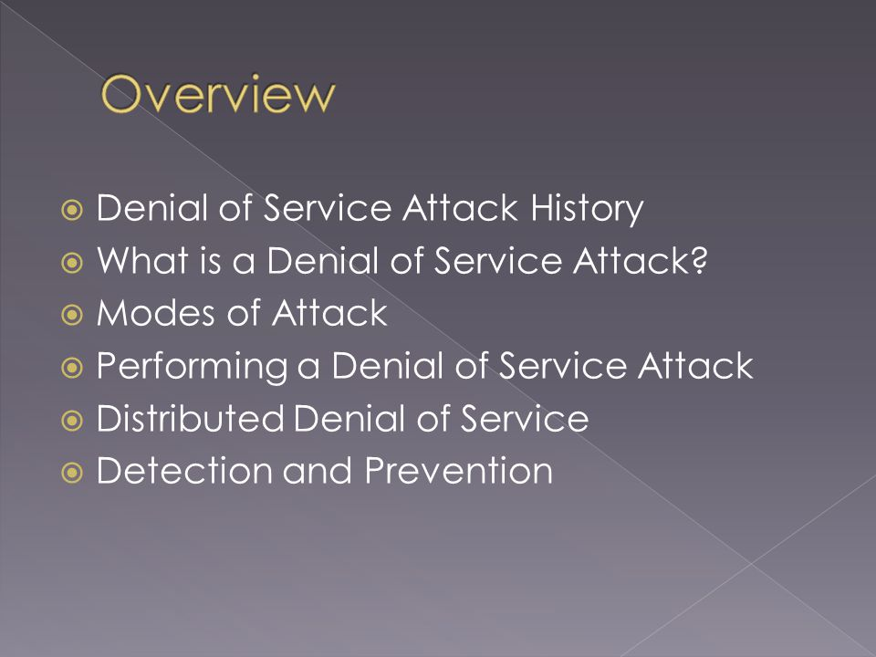 First major attacks start to appear in 2001.