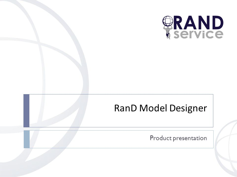 RanD Model Designer Product presentation