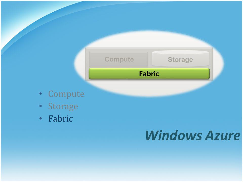 Windows Azure Compute Storage Fabric