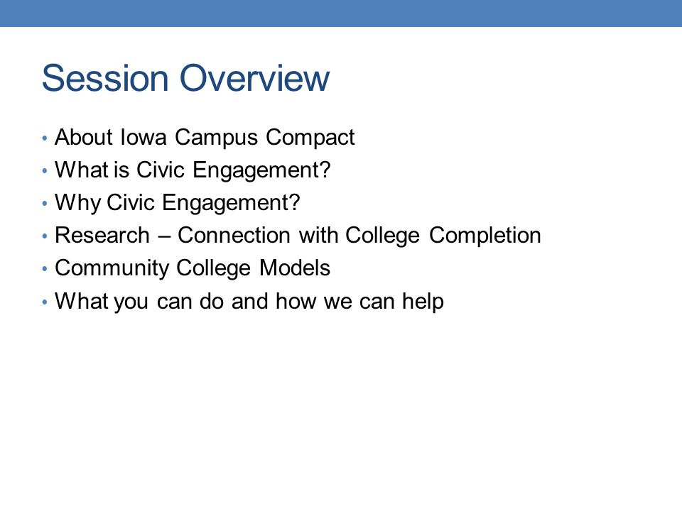 1.Connect with institutional mission and vision statements 2.