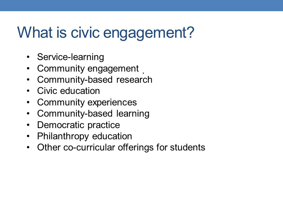 What is civic engagement.Individual vs.