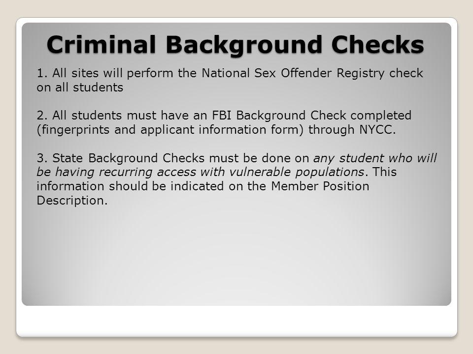Criminal Background Checks 1.