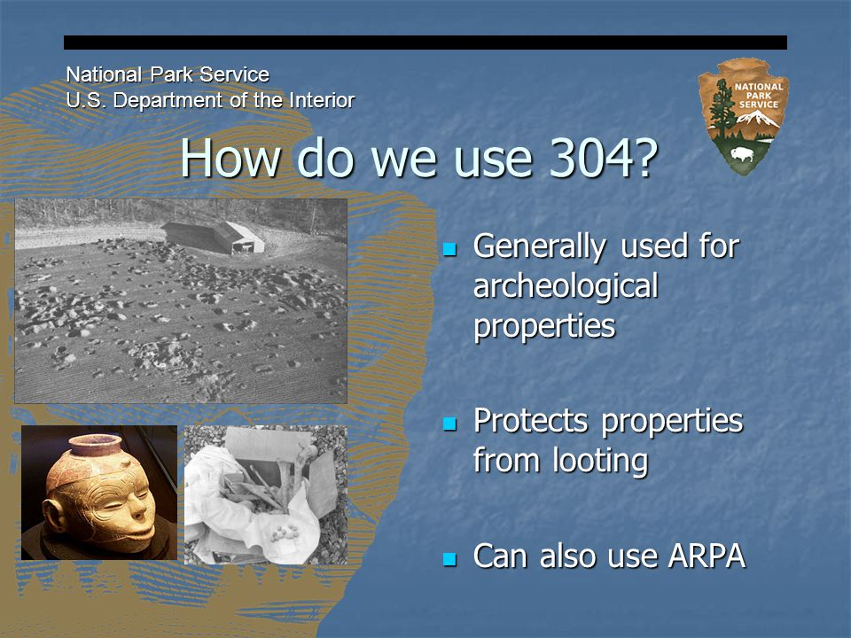 How do we use 304. National Park Service U.S.