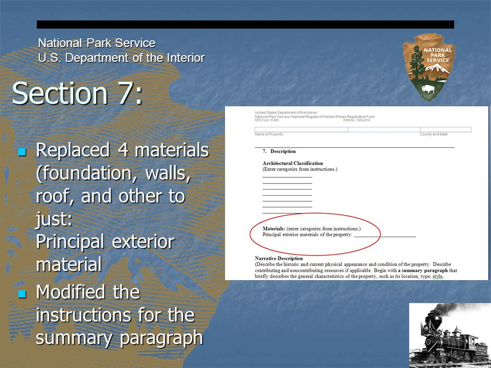 Section 7: National Park Service U.S.