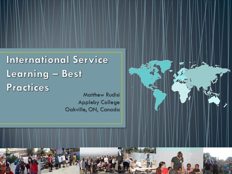 Matthew Rudisi Appleby College Oakville, ON, Canada