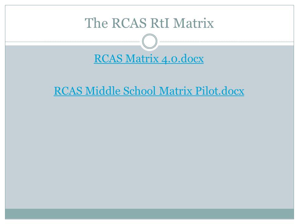 The RCAS RtI Matrix RCAS Matrix 4.0.docx RCAS Middle School Matrix Pilot.docx