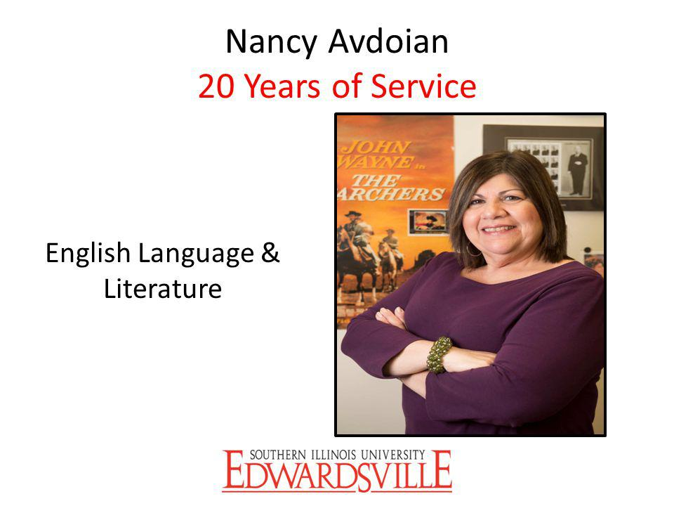 Nancy Avdoian 20 Years of Service English Language & Literature