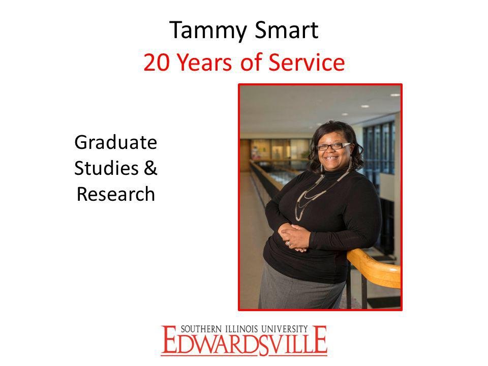 Tammy Smart 20 Years of Service Graduate Studies & Research