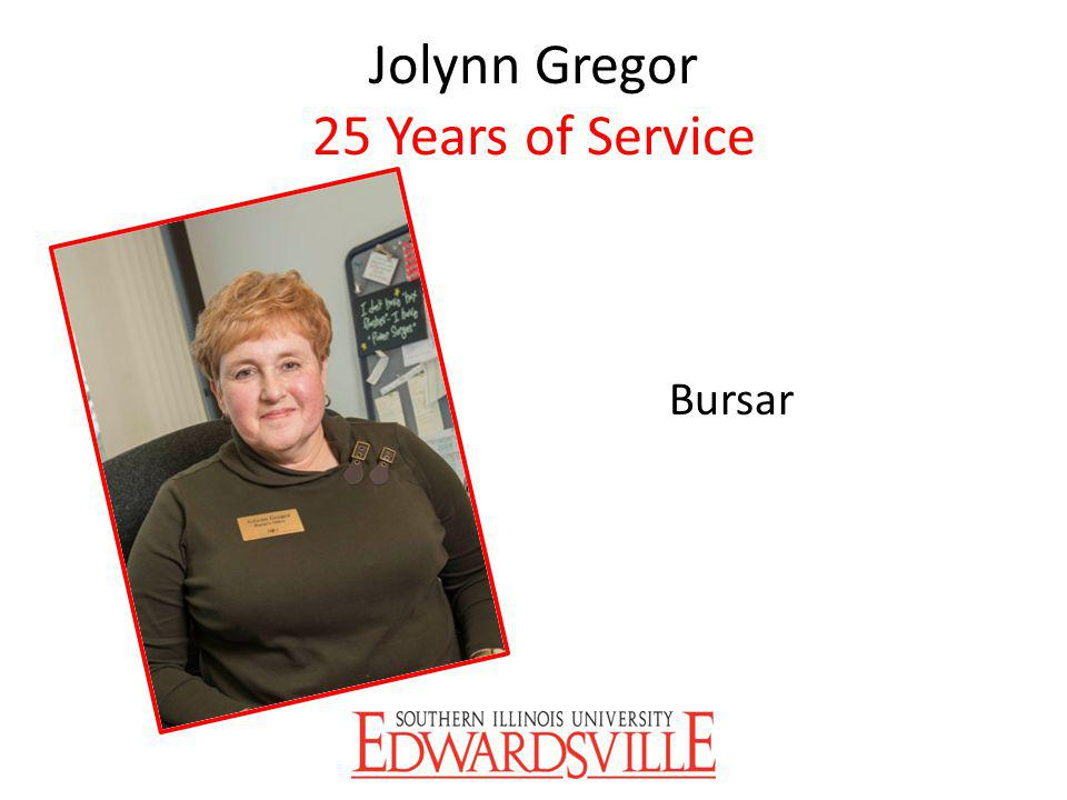 Jolynn Gregor 25 Years of Service Bursar