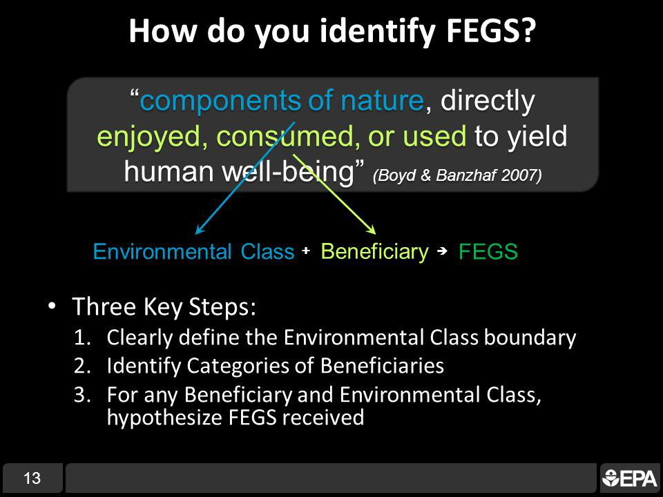 How do you identify FEGS.