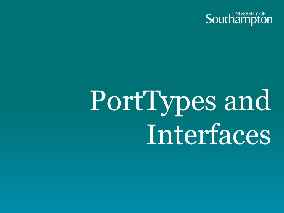 PortTypes and Interfaces