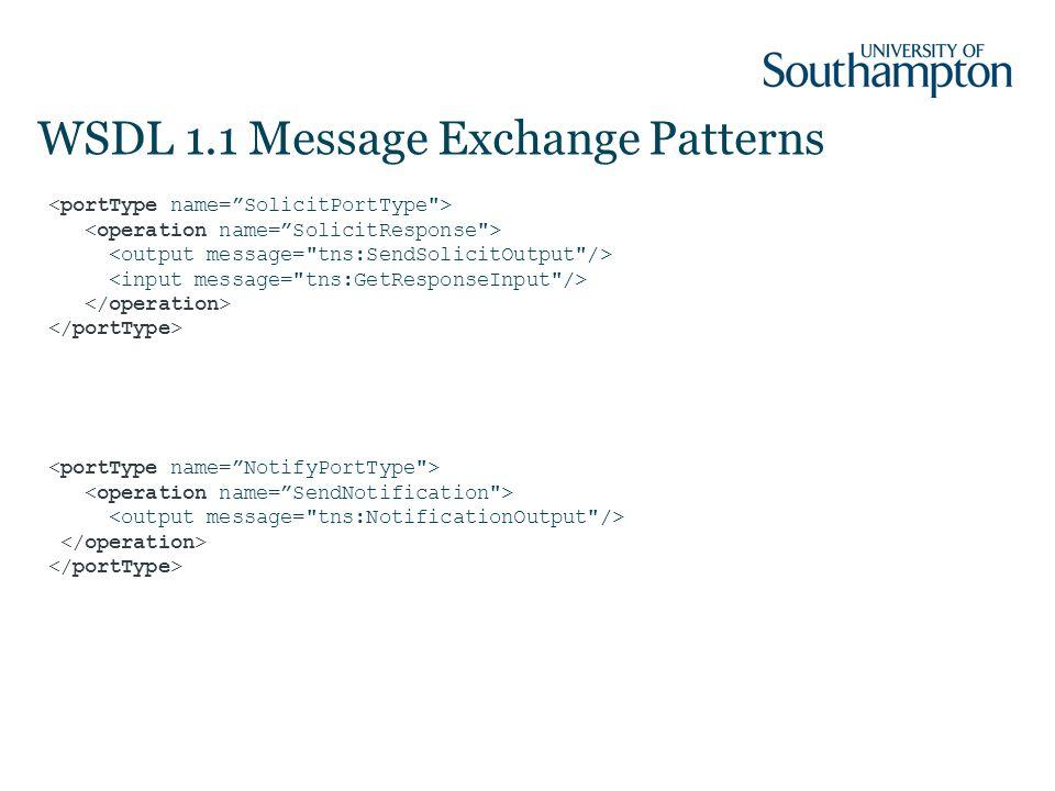 WSDL 1.1 Message Exchange Patterns