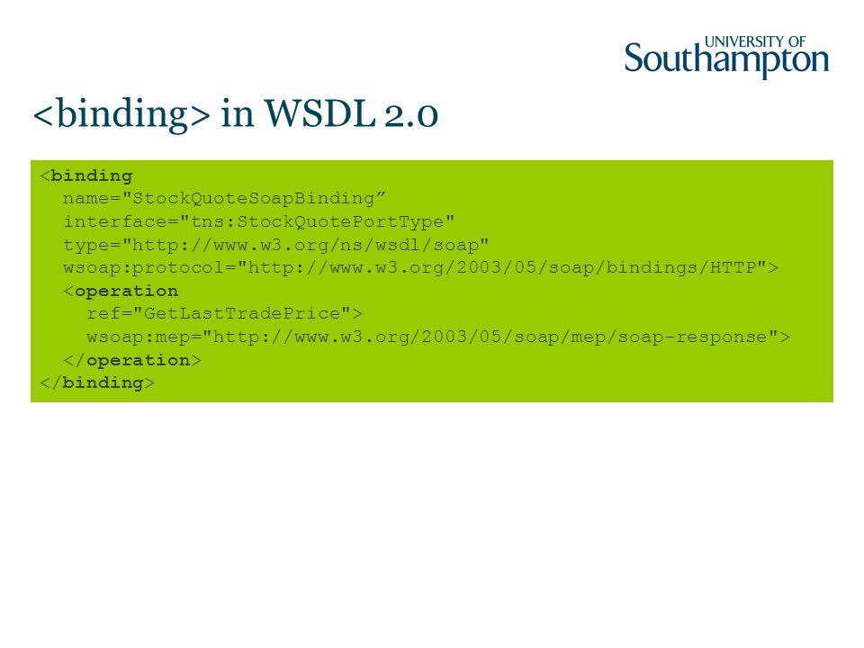 in WSDL 2.0 wsoap:mep= http://www.w3.org/2003/05/soap/mep/soap-response >