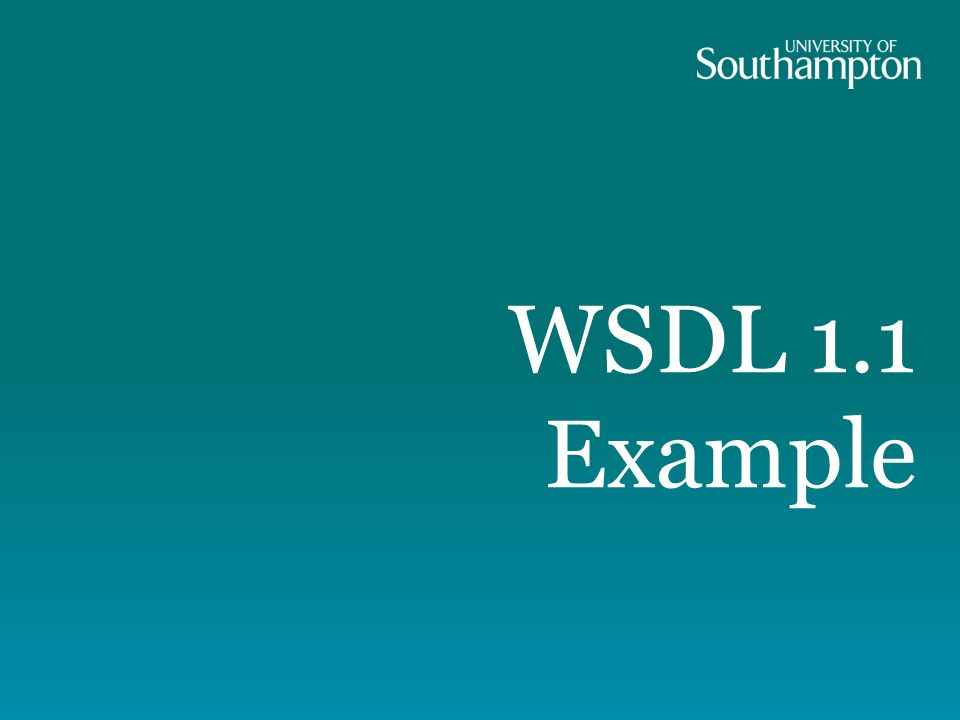 WSDL 1.1 Example