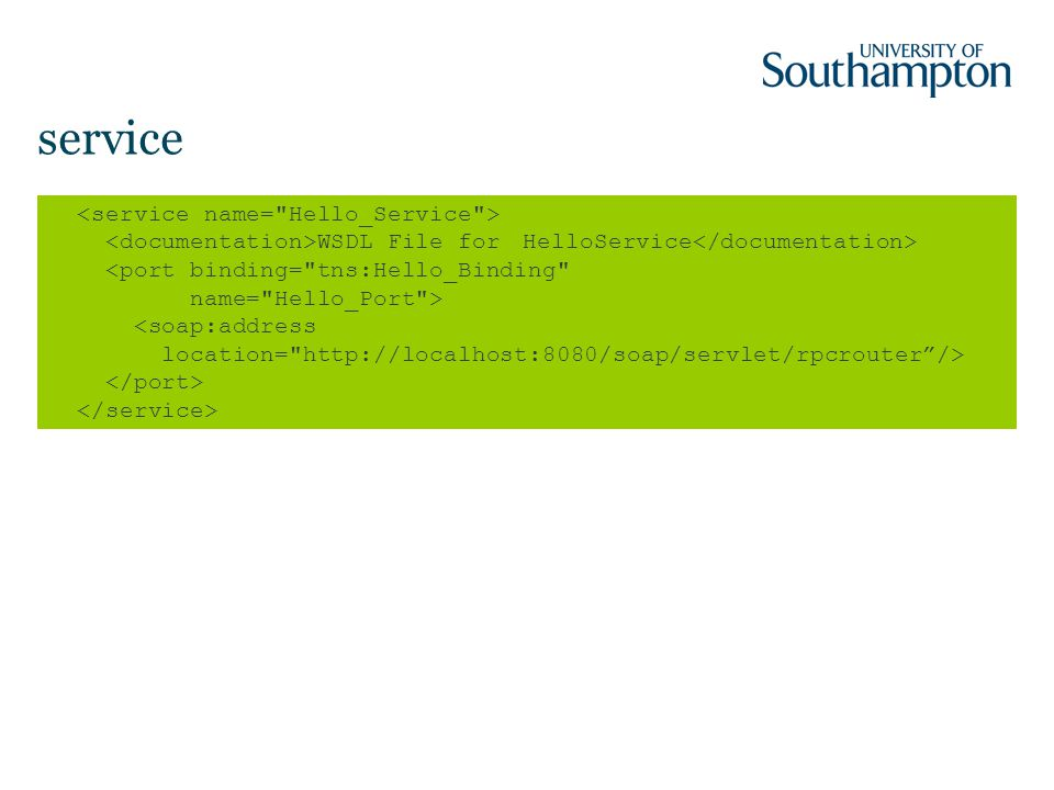service WSDL File for HelloService
