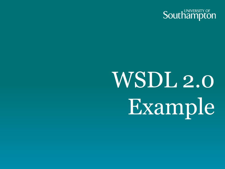 WSDL 2.0 Example