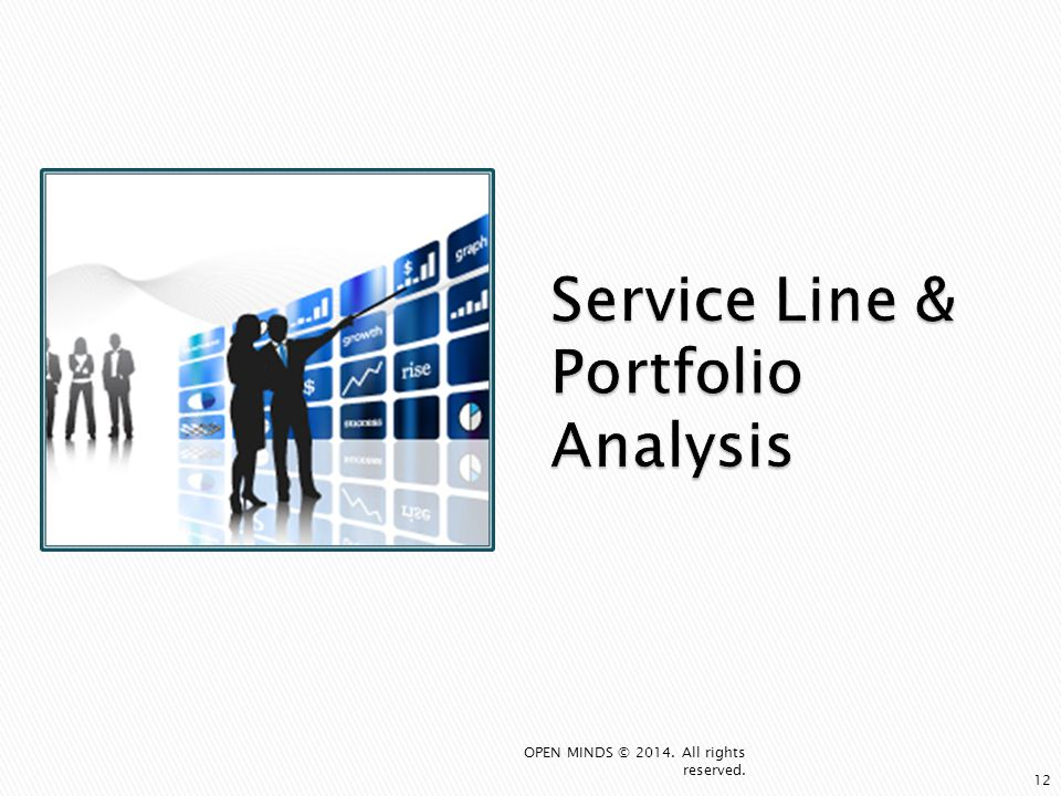 Service Line & Portfolio Analysis 12 OPEN MINDS © 2014. All rights reserved.