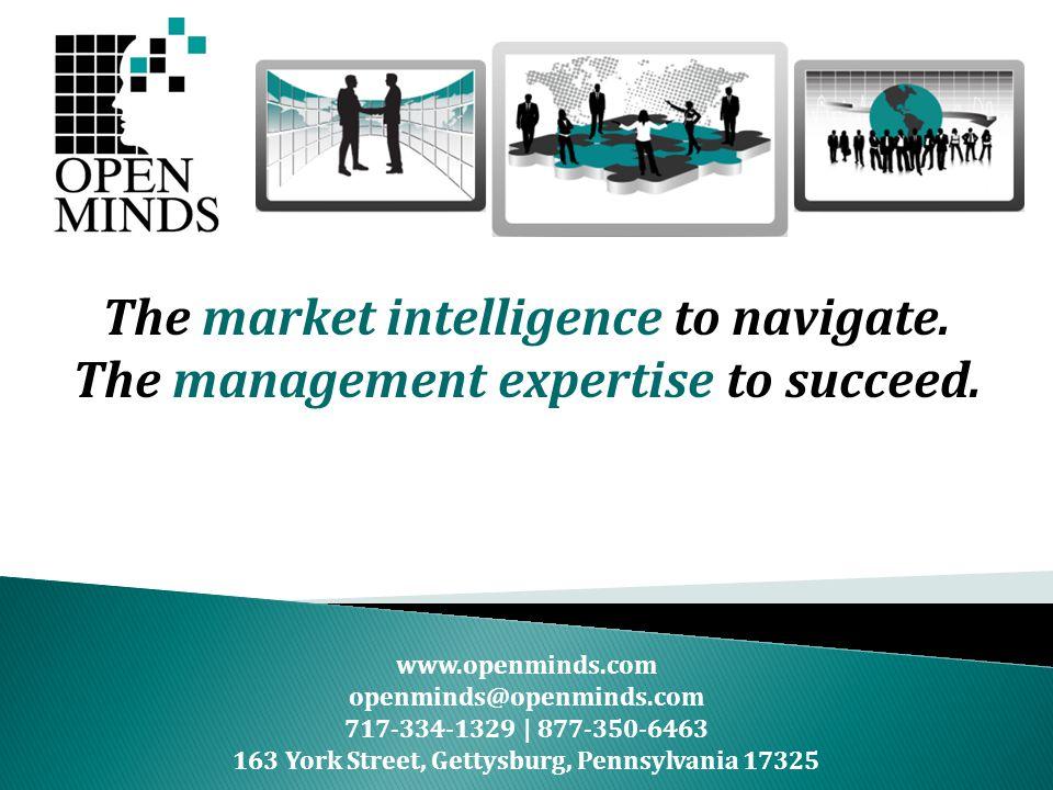 www.openminds.com openminds@openminds.com 717-334-1329 | 877-350-6463 163 York Street, Gettysburg, Pennsylvania 17325 The market intelligence to navig