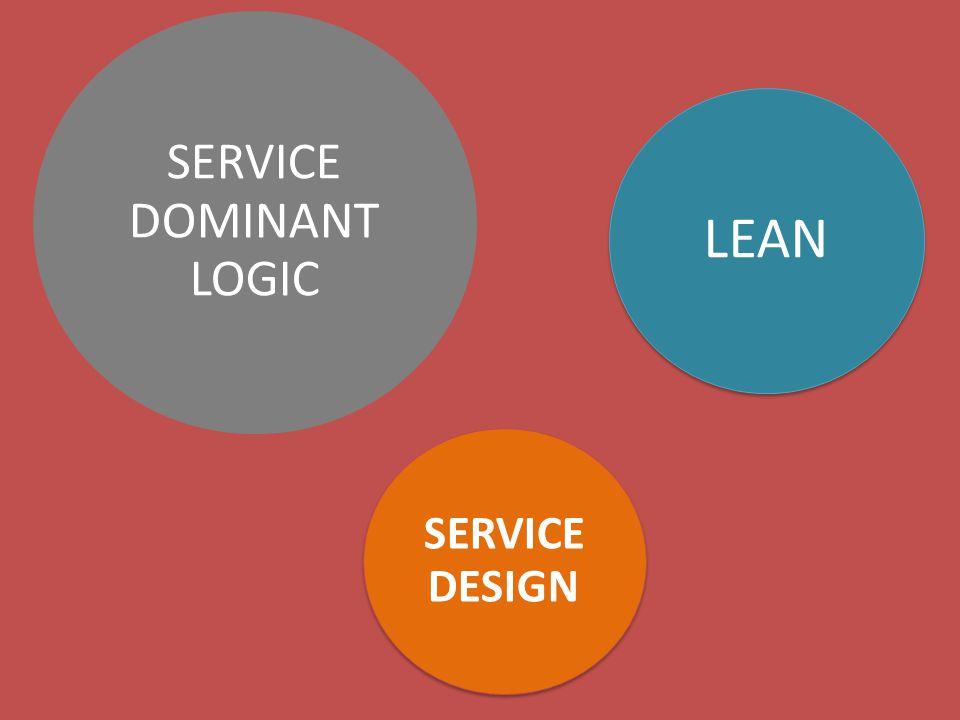 SERVICE DOMINANT LOGIC SERVICE DESIGN LEAN