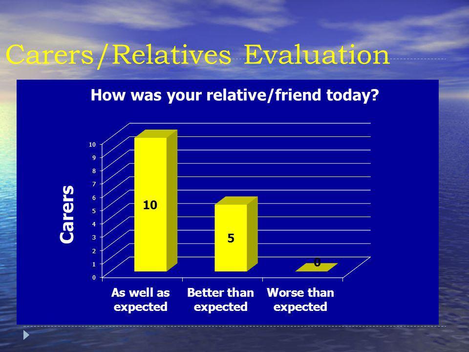 Carers/Relatives Evaluation