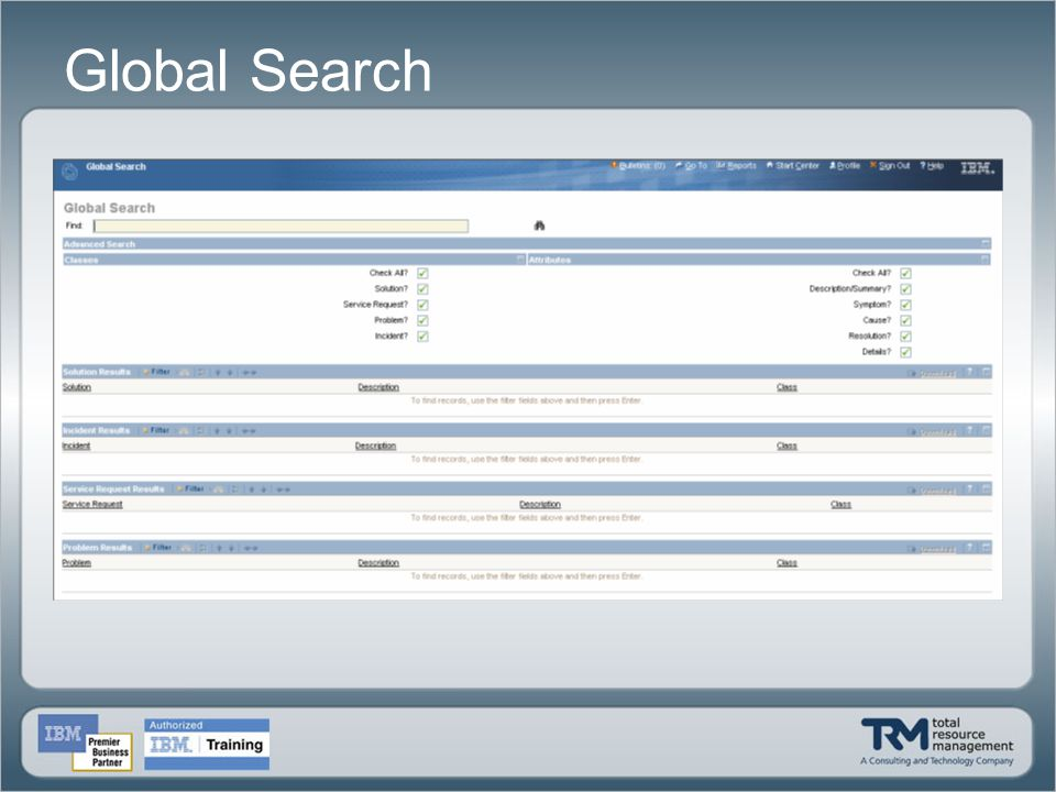 Global Search