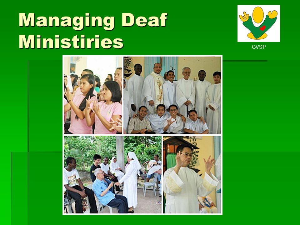 GVSP Managing Deaf Ministiries