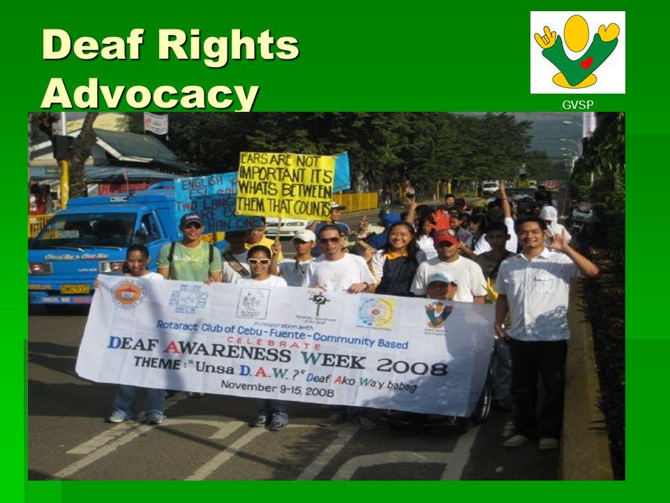GVSP Deaf Rights Advocacy