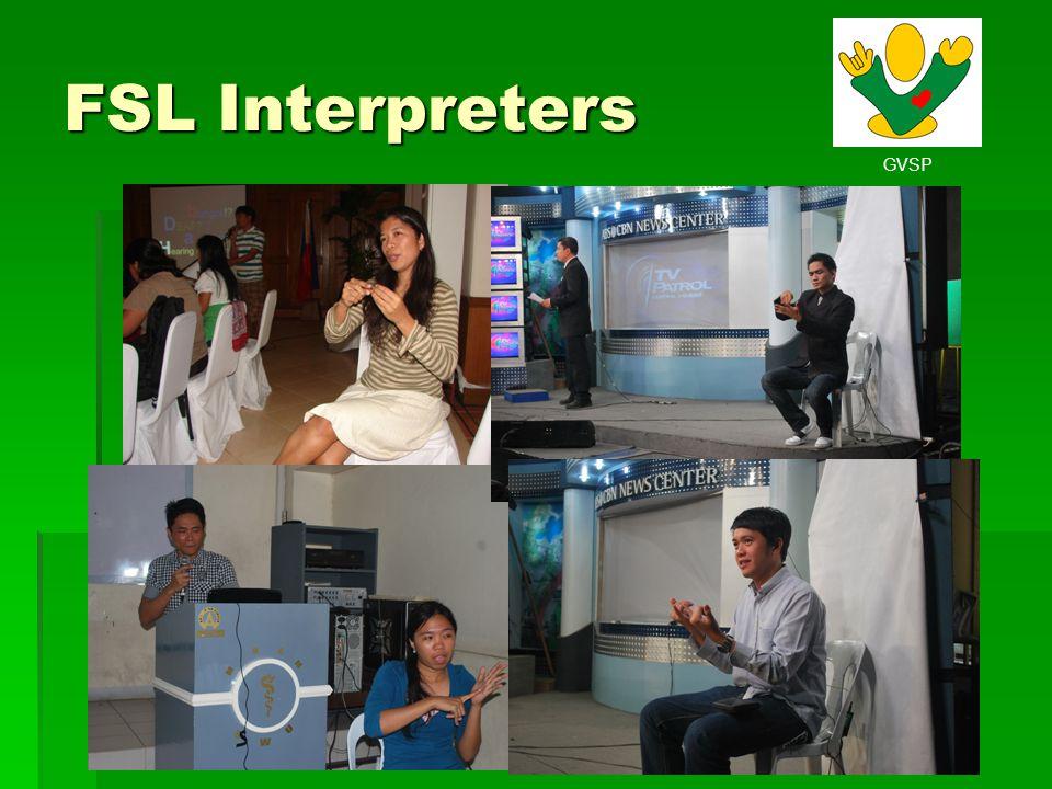 GVSP FSL Interpreters