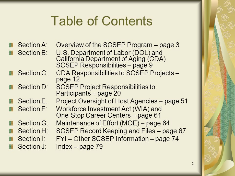 73 Management File Content Signed vendor contracts Coordination activities WIA MOUs State Plan participation Equitable Distribution agreements AAA linkages Coordination with other SCSEP grantees Employer outreach activities Community visibility activities