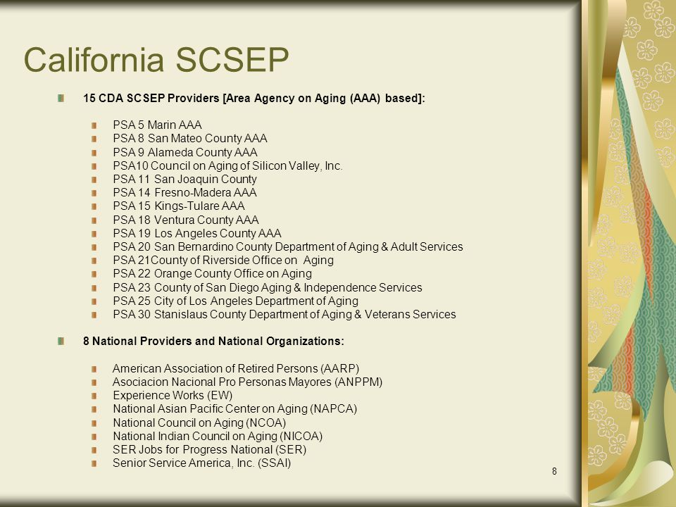 19 What Does the State SCSEP Analyst Monitor.